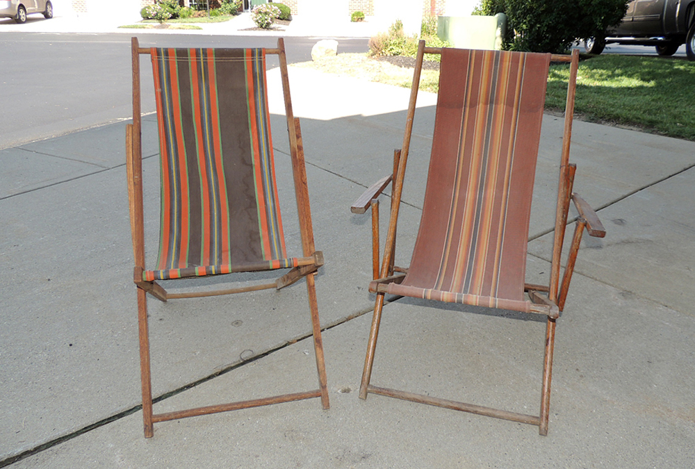 antique beach chair posture camping lounge chairs ebth