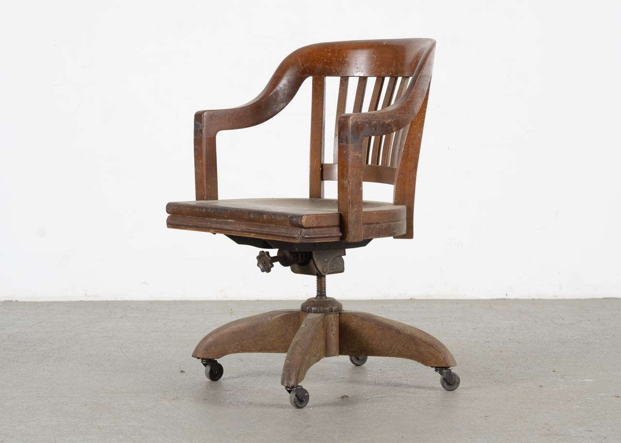 wh gunlocke chair zenergy ball vintage solid oak w h ebth