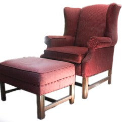 Ethan Allen Wingback Chairs Simple Chair Design And Ottoman Ebth