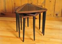 Trio of Mid Century Modern Triangular Nesting Side Tables ...