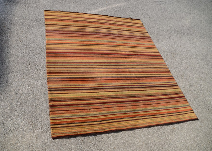 Crate&barrel Striped Area Rug Ebth