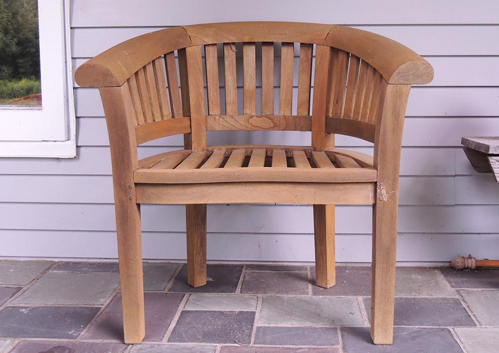 barrel back chair metal retro chairs teak ebth