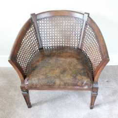 Cane Barrel Chair Swivel Mat Vintage Back Ebth