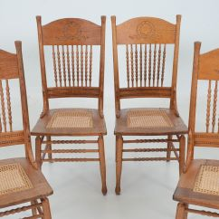 Cane Bottom Chairs Chair Covers Dubai Set Of Six Oak Caned Seat Dining Ebth
