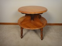 Mid Century Modern Maple Two Tier Side Table : EBTH