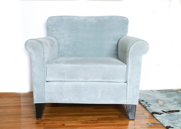 Microfiber Accent Chair and Ottoman  EBTH