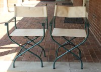 Pair of Metal Director Chairs : EBTH