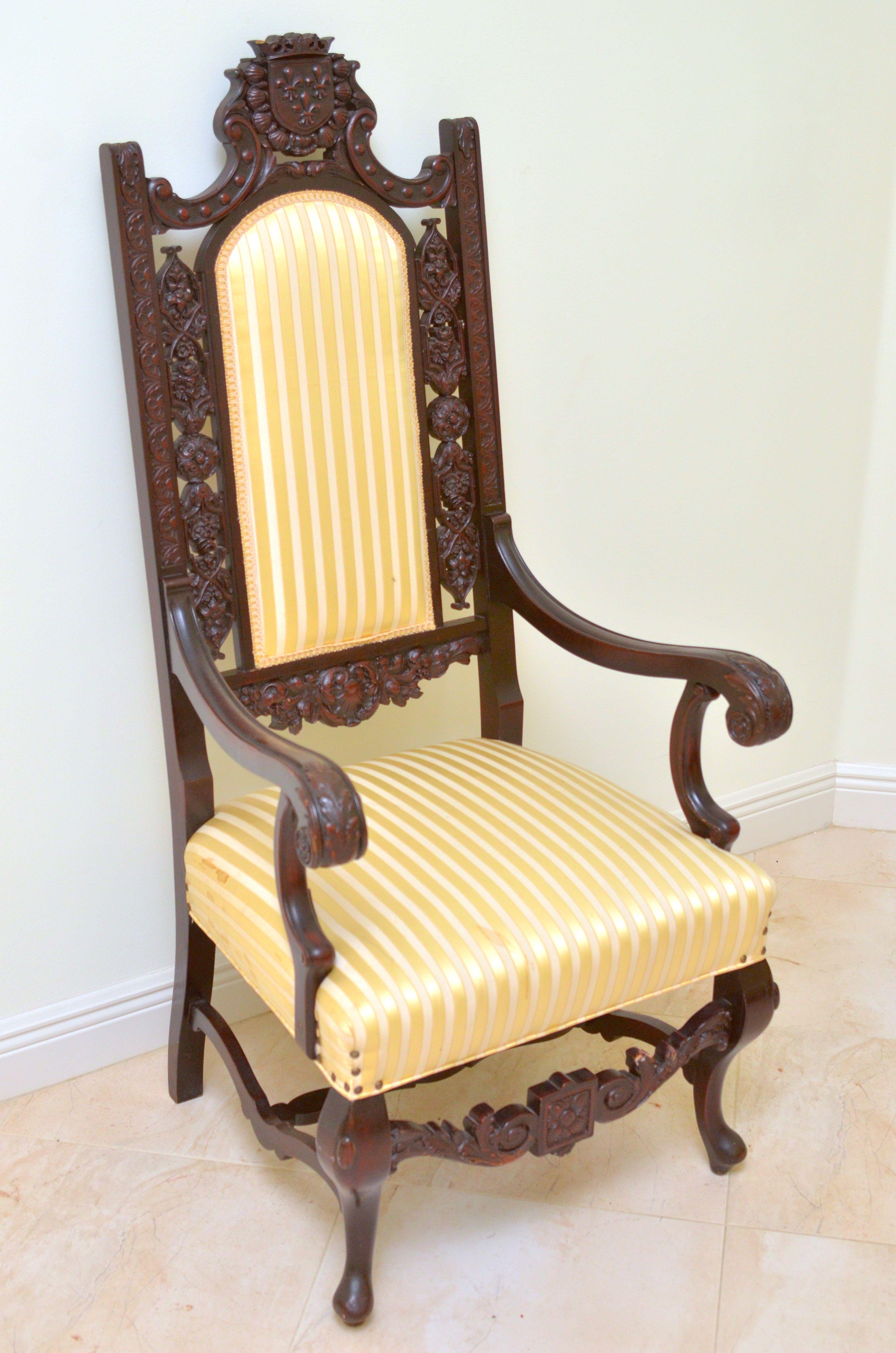 stylish high chair swing dubai jacobean style back ebth