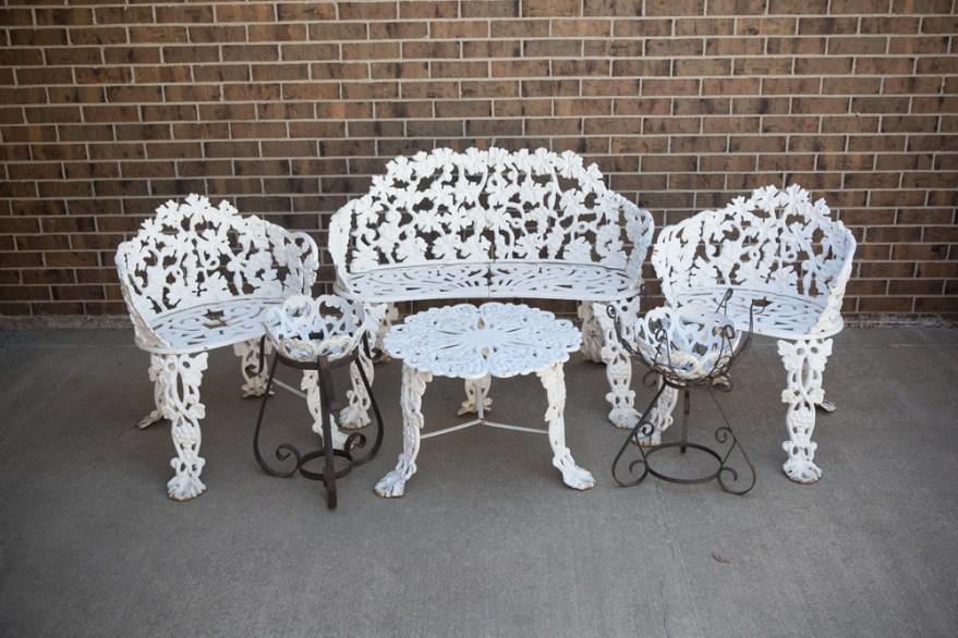 Victorian Cast Iron Garden Furniture Ebth