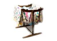 Three Vintage Quilts and Quilt Rack : EBTH