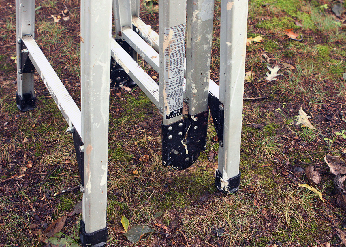 Westway 12ft Folding Aluminum Ladder Ebth