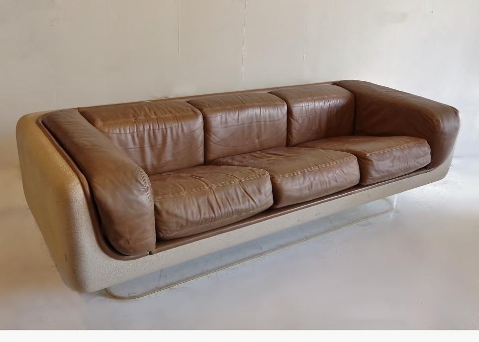 steelcase sofa platner cat proof cover soft seating vintage floating warren ebth