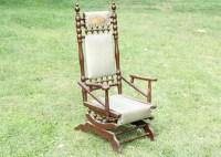 Antique Renaissance Revival Spring Rocking Chair : EBTH