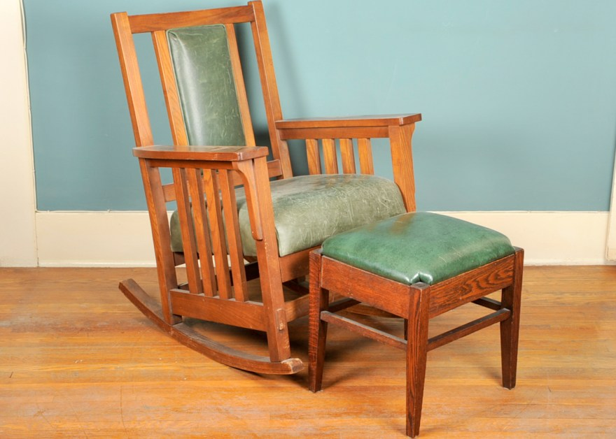 Sam Moore Rocking Chair And Ottoman Ebth