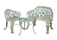 Vintage Cast Iron Patio Furniture Set : EBTH