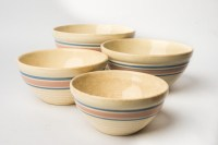 Set of Striped Mixing Bowls : EBTH