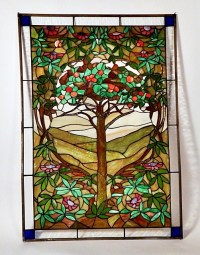 """Tree of Life"" Reproduction Stained Glass Hanging Art ..."