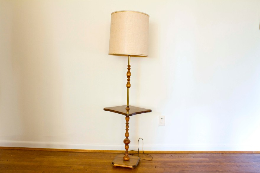 Vintage Floor Lamp With Tray Table Ebth