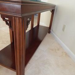 Vintage Lane Sofa Table Throws For Sofas Uk Fretwork Asian Style Ebth