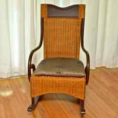 Wicker Rocking Chair Pier One Childs Couch 1 Rocker Ebth