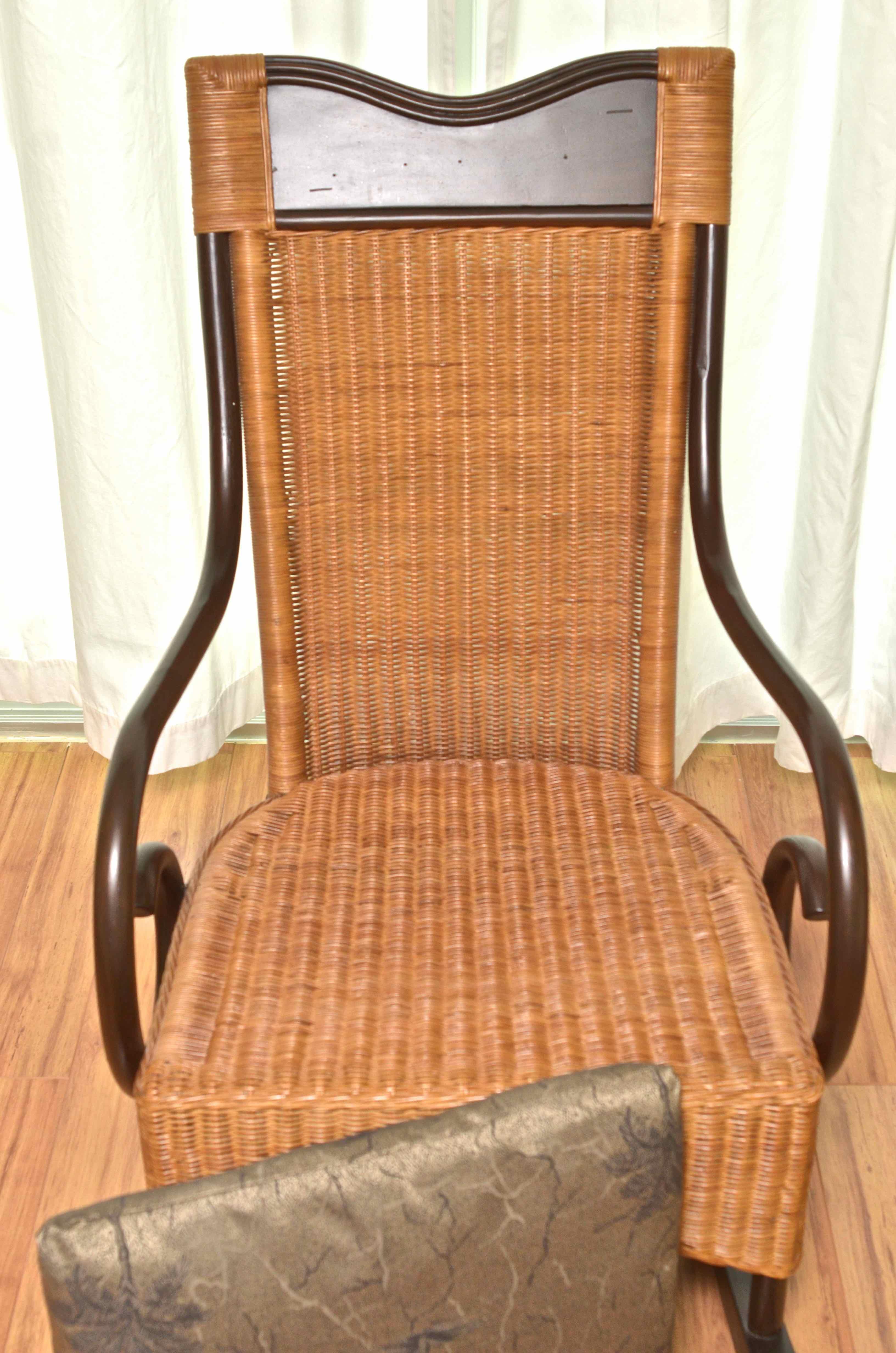 wicker rocking chair pier one recliner office singapore 1 rocker ebth