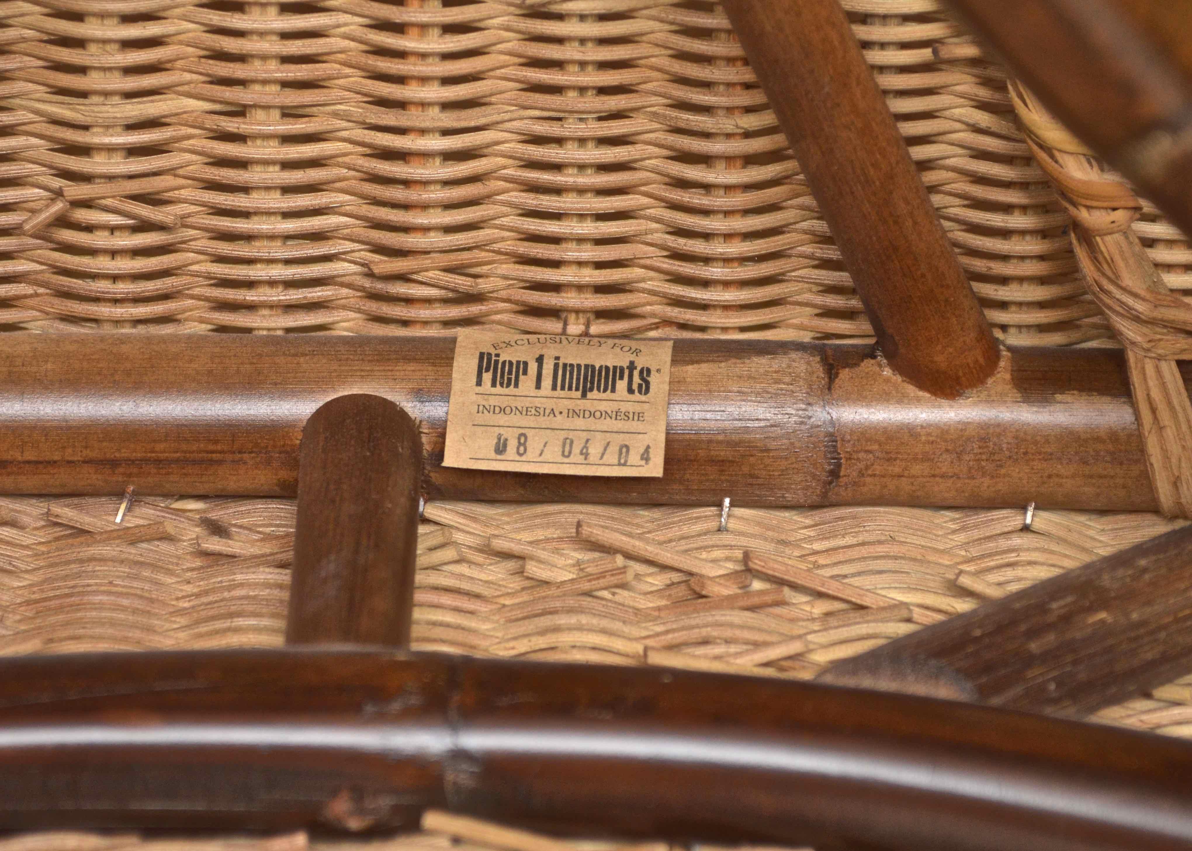wicker rocking chair pier one yoga office 1 rocker ebth