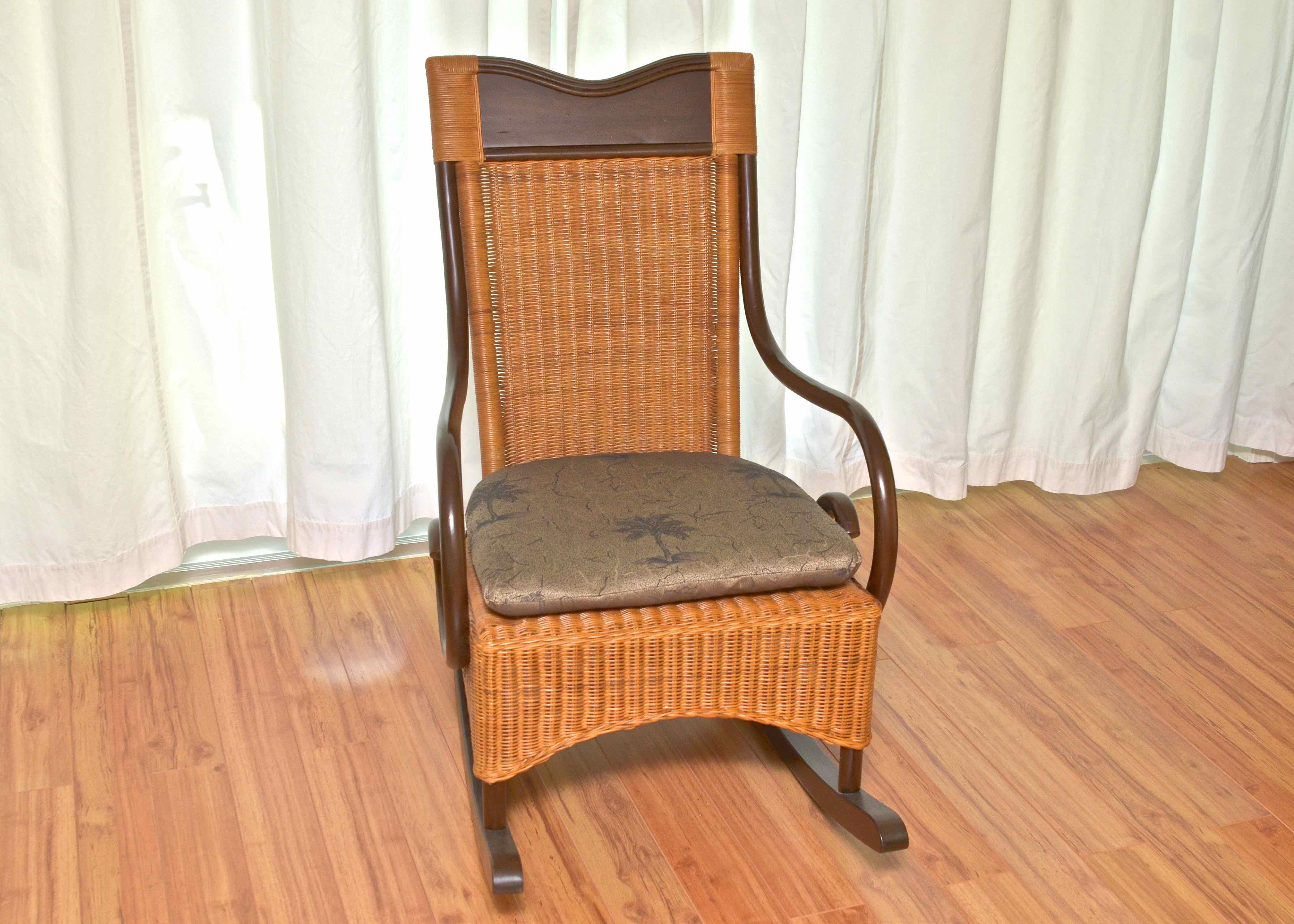 wicker rocking chair pier one luxury high chairs for babies 1 rocker ebth