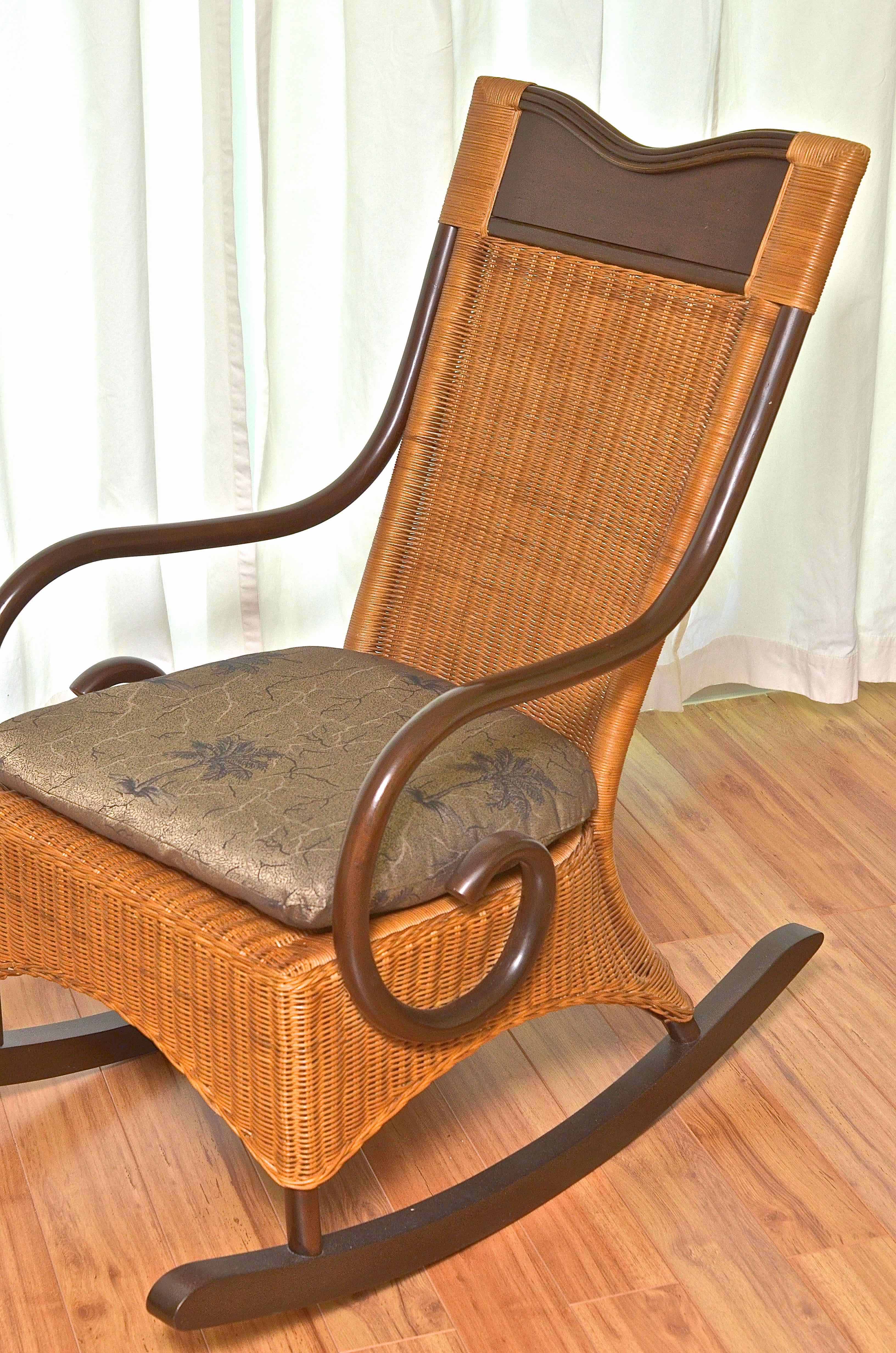 wicker rocking chair pier one indoor swing canada 1 rocker ebth