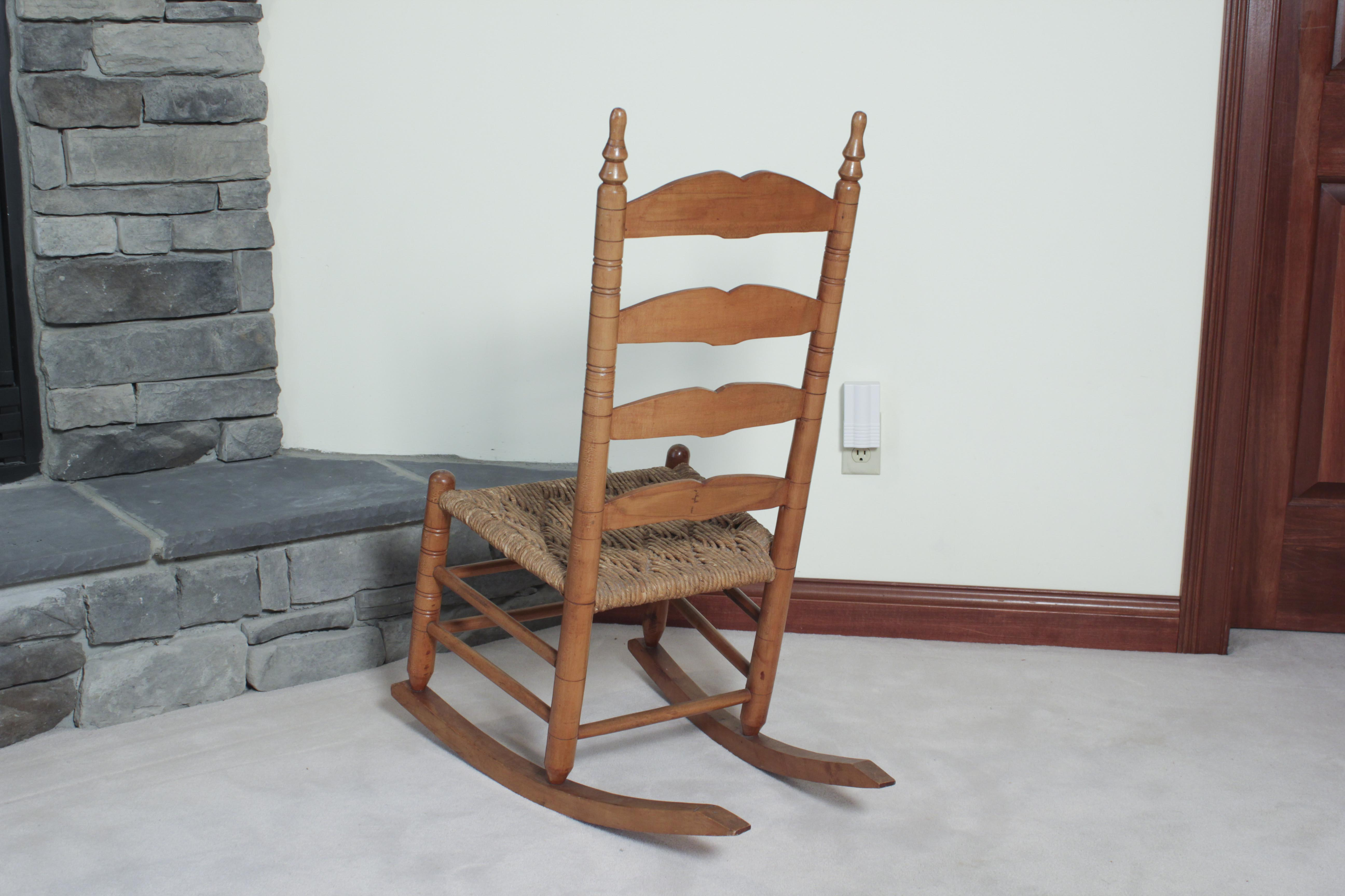 small rocking chairs baker tufted dining ladder back chair ebth