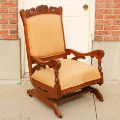 Antique Platform Rocking Chair With Springs Fabric Twin Sleeper Bed | Furniture