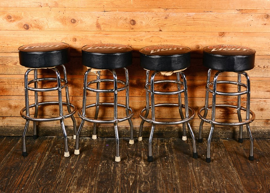 Coors Light Swiveling Bar Stools Ebth
