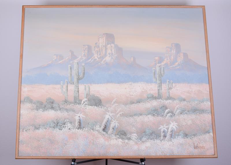 Lee Reynolds Desert Landscape Acrykic Canvas Painting