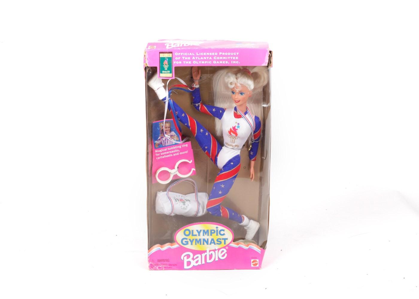 1996 Barbie Olympic Gymnast Doll Ebth