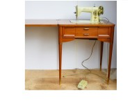 1956 Singer Sewing Machine and Mid Century Modern Cabinet ...