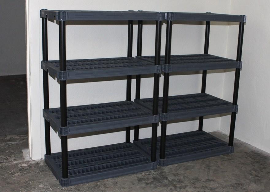 Black Plastic Storage Shelving Units Ebth