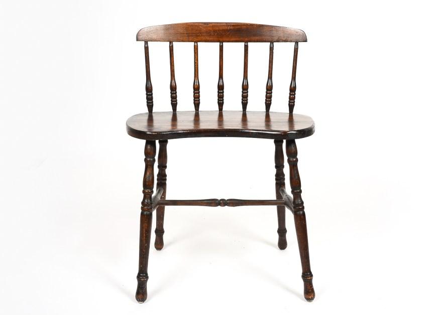 Antique Oak Vanity Chair : EBTH