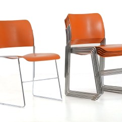 David Rowland Metal Chair Covers For Banquet Six 40 4 Mandarin Stacking Chairs Ebth