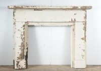 Distressed White Fireplace Mantel : EBTH