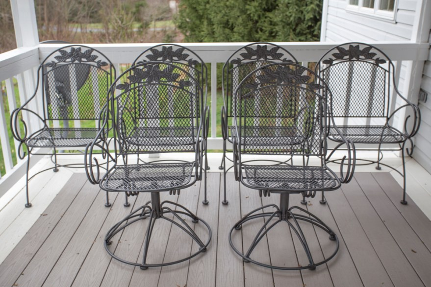 Outdoor Wrought Iron Dining Chairs Ebth