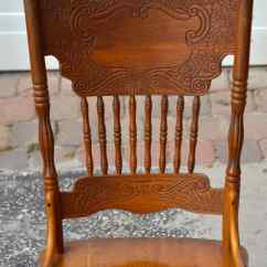 Press Back Chair Canvas Covers Nz Country Style Oak Dining Chairs Ebth