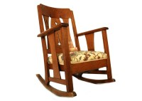 Mission Style Oak Rocking Chair : EBTH