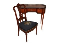 Antique Louis XVI Style Writing Desk and Victorian Chair ...