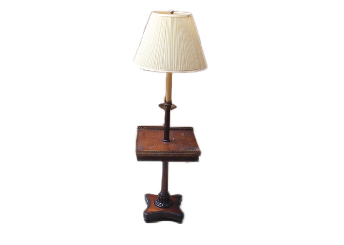 Floor Lamp with Tray Table : EBTH