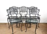 Black Metal Patio Dining Chairs : EBTH