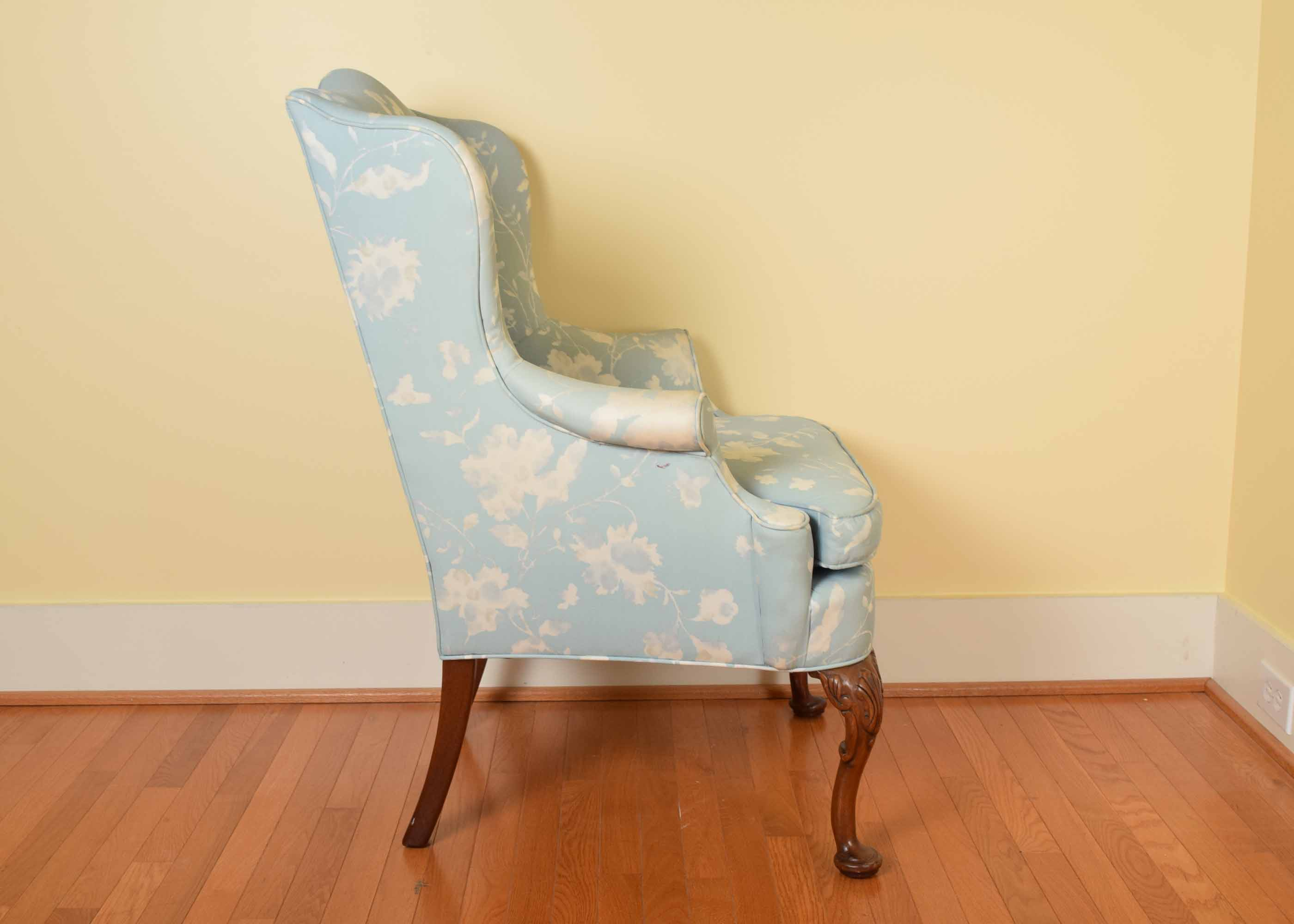 blue and white upholstered chairs your wedding chair covers key city queen anne style wing