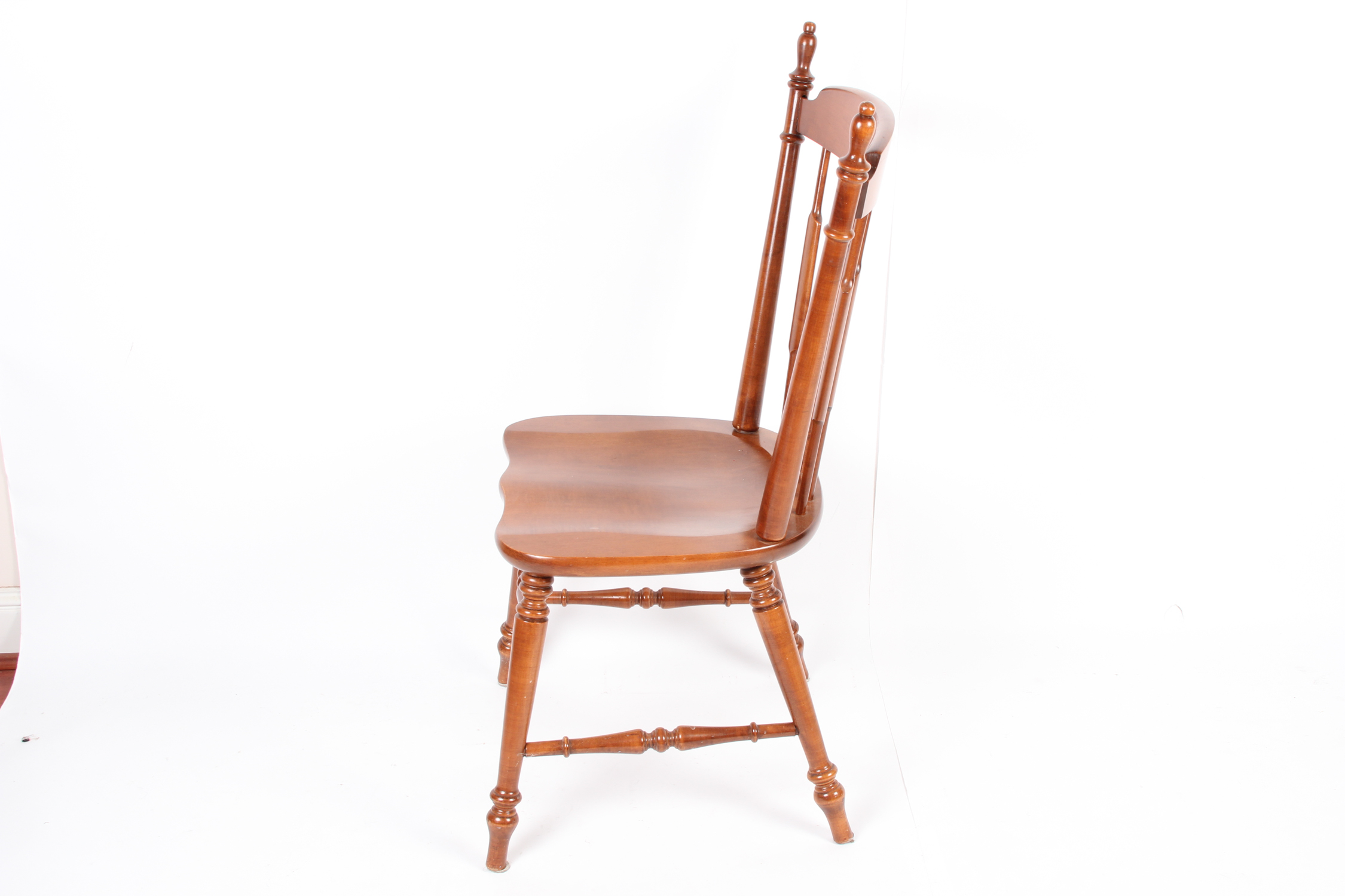 tell city chairs pattern 4548 back support office chair co walnut dining ebth