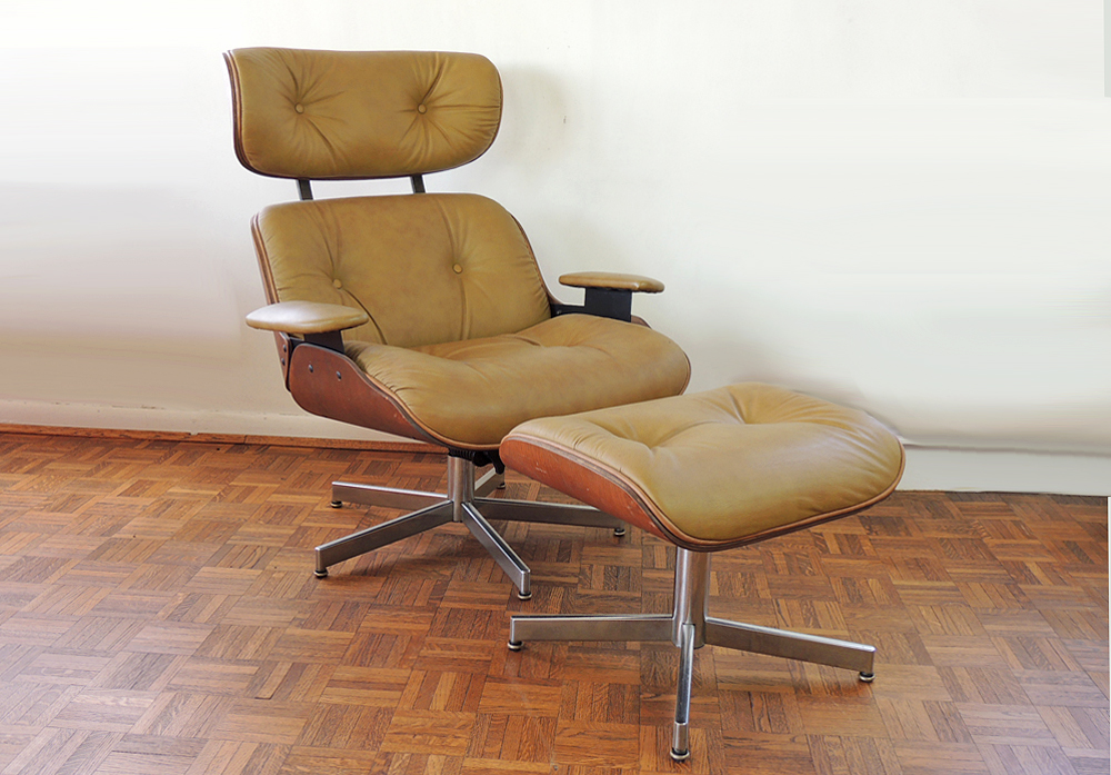 selig eames chair affordable dining chairs style and ottoman ebth
