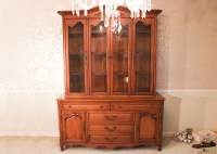 White Fine Furniture China Cabinet Hutch : EBTH