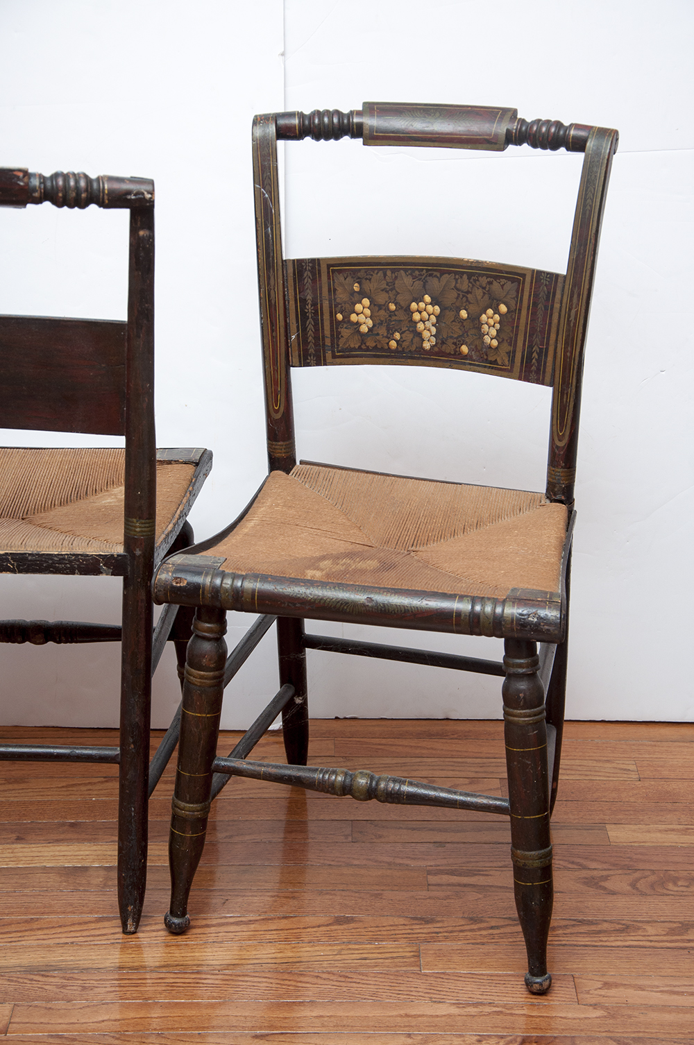Pair Of Antique Hand-painted Hitchcock Chairs Ebth
