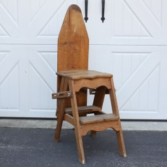 Chair Step Stool Ironing Board Canopy Kmart Vintage Amish Wood Ladder Ebth
